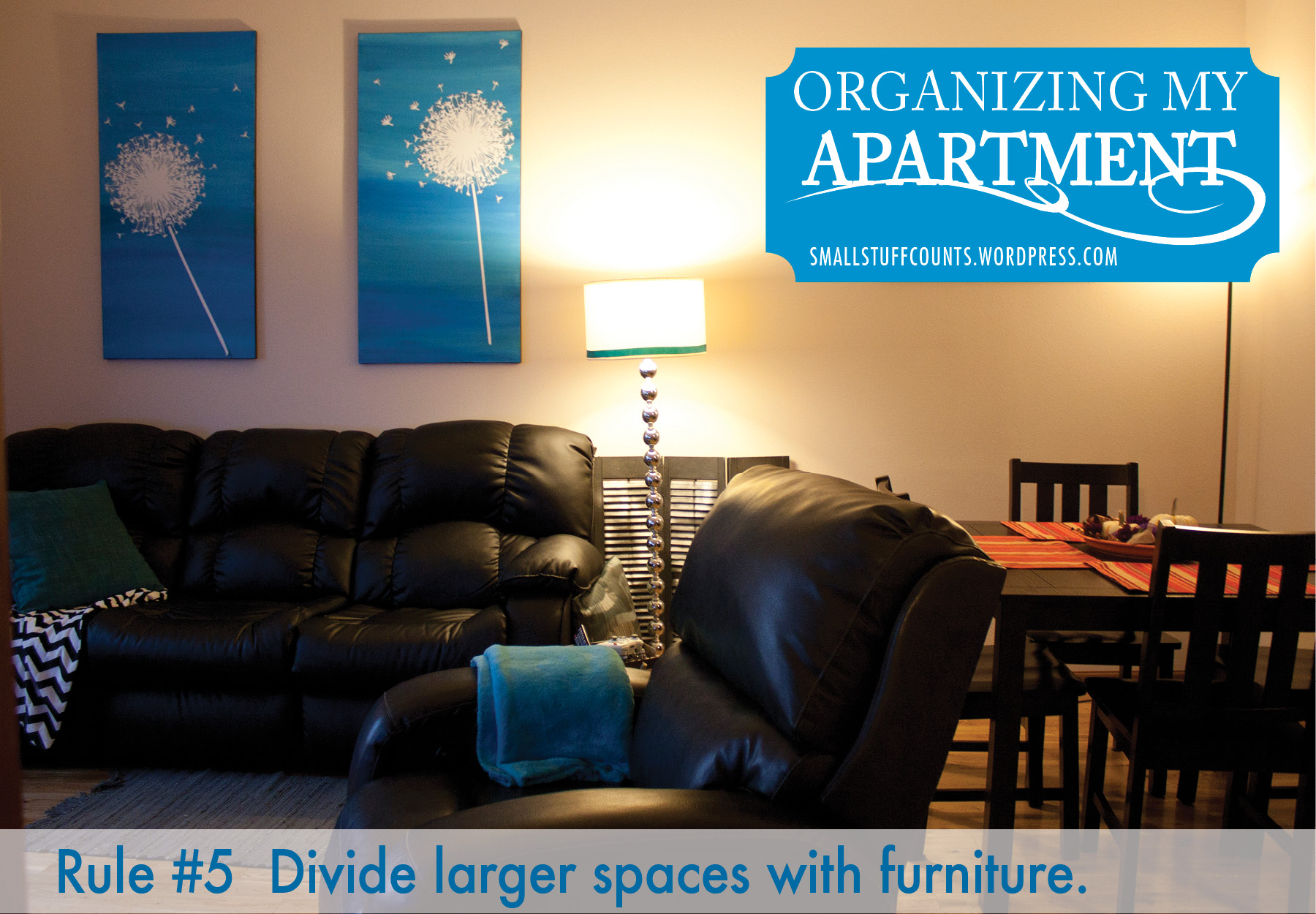 Organizing My Apartment {5 Rules For A Small Living Room} - Small ...