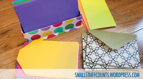 Tips for sending thoughtful snail mail via The Small Stuff Counts Blog