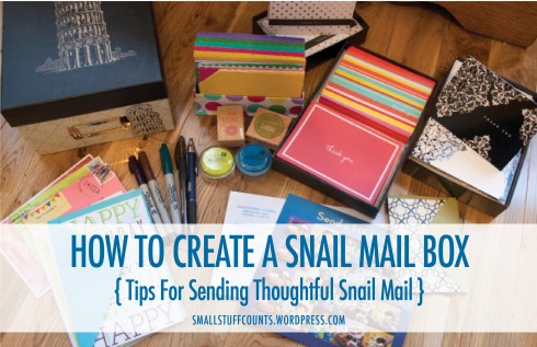 How To Create A Snail Mail Box via The Small Stuff Counts Blog