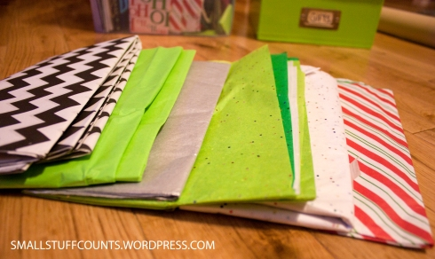 Tips for hassle-free wrapping via The Small Stuff Counts Blog